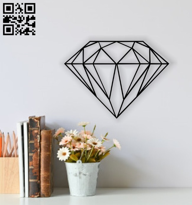 Diamond E0014476 file cdr and dxf free vector download for laser cut plasma
