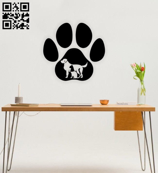 Dog cat E0014581 file cdr and dxf free vector download for laser cut plasma