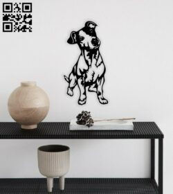 Dog wall decor E0014718 file cdr and dxf free vector download for laser cut plasma