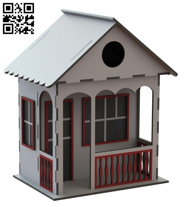 Doll house E0014586 file cdr and dxf free vector download for laser cut