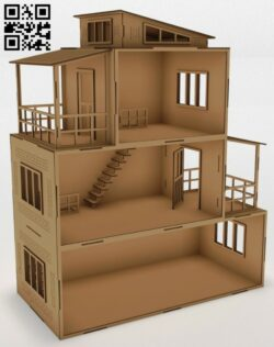 Doll house E0014614 file cdr and dxf free vector download for laser cut