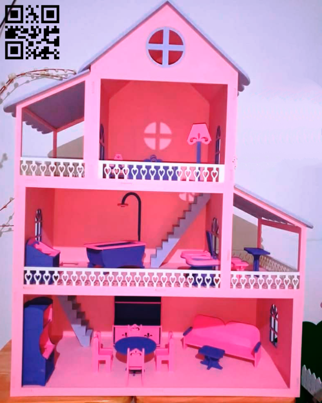 Dollhouse E0014467 file cdr and dxf free vector download for laser cut