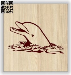 Dolphin E0014473 file cdr and dxf free vector download for laser engraving machine