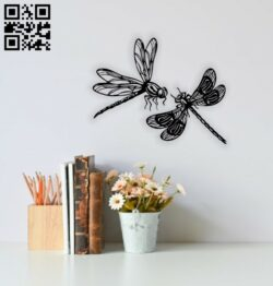 Dragonfly wall decor E0014652 file cdr and dxf free vector download for laser cut plasma