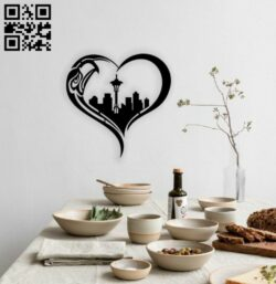 Eagle city wall decor E0014738 file cdr and dxf free vector download for laser cut plasma