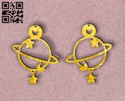 Earring E0014546 file cdr and dxf free vector download for laser cut plasma