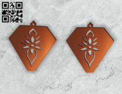 Earring E0014547 file cdr and dxf free vector download for laser cut plasma
