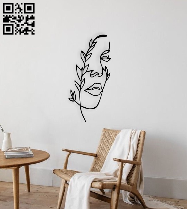 Face line art E0014549 file cdr and dxf free vector download for laser cut plasma