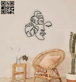 Face with leaves wall decor E0014861 file cdr and dxf free vector download for laser cut plasma
