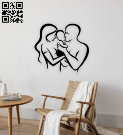 Family wall decor E0014782 file cdr and dxf free vector download for laser cut plasma