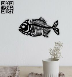 Fish bone E0014827 file cdr and dxf free vector download for laser cut plasma