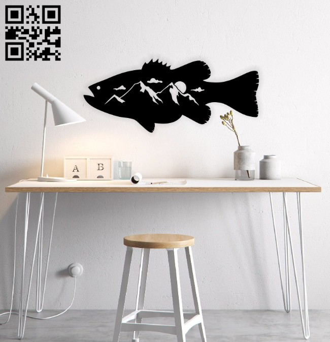 Fish wall decor E0014685 file cdr and dxf free vector download for laser cut plasma