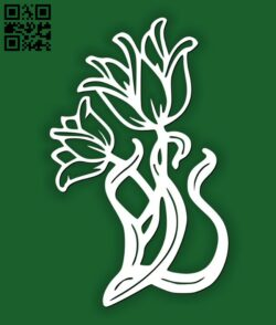 Floral flowers E0014497 file cdr and dxf free vector download for laser cut