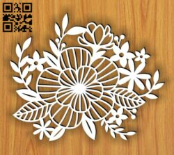 Flower E0014632 file cdr and dxf free vector download for laser cut