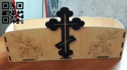 Flower box for church E0014754 file cdr and dxf free vector download for laser cut