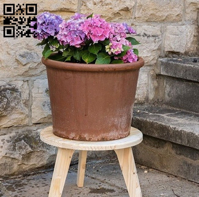 Flower pot shelf E0014856 file cdr and dxf free vector download for laser cut