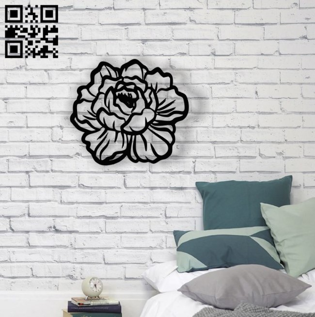 Flower wall decor E0014510 file cdr and dxf free vector download for laser cut plasma