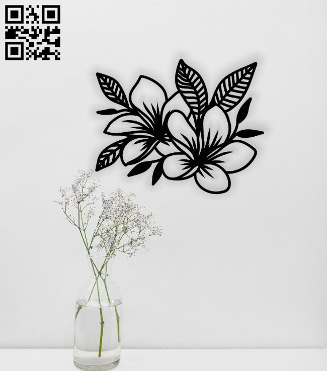 Flowers E0014543 file cdr and dxf free vector download for laser cut