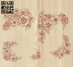 Flowers E0014600 file cdr and dxf free vector download for laser engraving machine