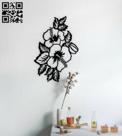 Flowers wall decor E0014834 file cdr and dxf free vector download for laser cut plasma