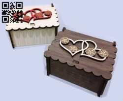 Gift box E0014623 file cdr and dxf free vector download for laser cut