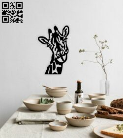 Giraffe wall decor E0014717 file cdr and dxf free vector download for laser cut plasma