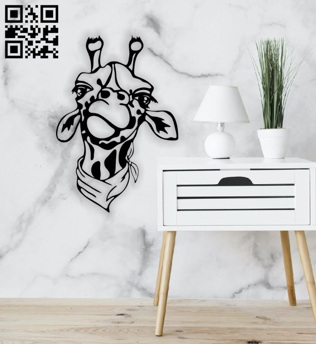 Giraffe wall decor E0014787 file cdr and dxf free vector download for laser cut plasma