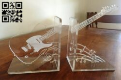 Guitar bookshelf E0014617 file cdr and dxf free vector download for laser cut