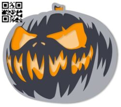 Halloween E0014569 file cdr and dxf free vector download for laser cut