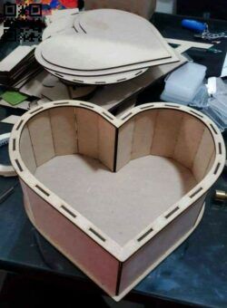 Heart box E0014588 file cdr and dxf free vector download for laser cut