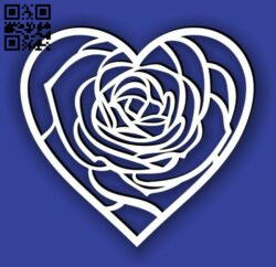 Heart frame E0014629 file cdr and dxf free vector download for laser cut