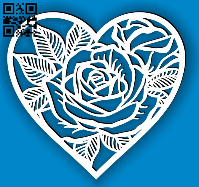 Heart frame E0014630 file cdr and dxf free vector download for laser cut plasma