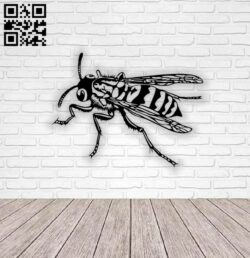 Honey bee wall decor E0014721 file cdr and dxf free vector download for laser cut plasma