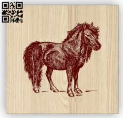 Horse E0014699 file cdr and dxf free vector download for laser engraving machine