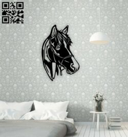 Horse E0014793 file cdr and dxf free vector download for laser cut plasma