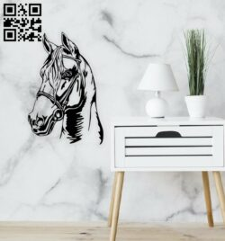 Horse wall decor E0014689 file cdr and dxf free vector download for laser cut plasma