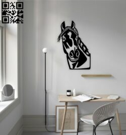 Horse wall decor E0014715 file cdr and dxf free vector download for laser cut plasma