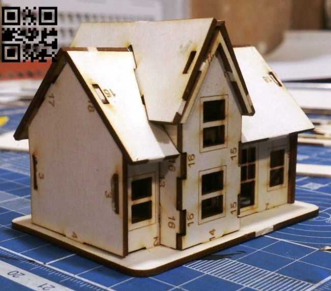 House E0014731 file cdr and dxf free vector download for laser cut