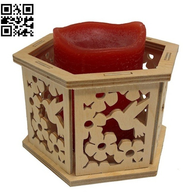 Hummingbird basket E0014728 file cdr and dxf free vector download for laser cut