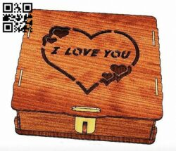I love you box E0014624 file cdr and dxf free vector download for laser cut