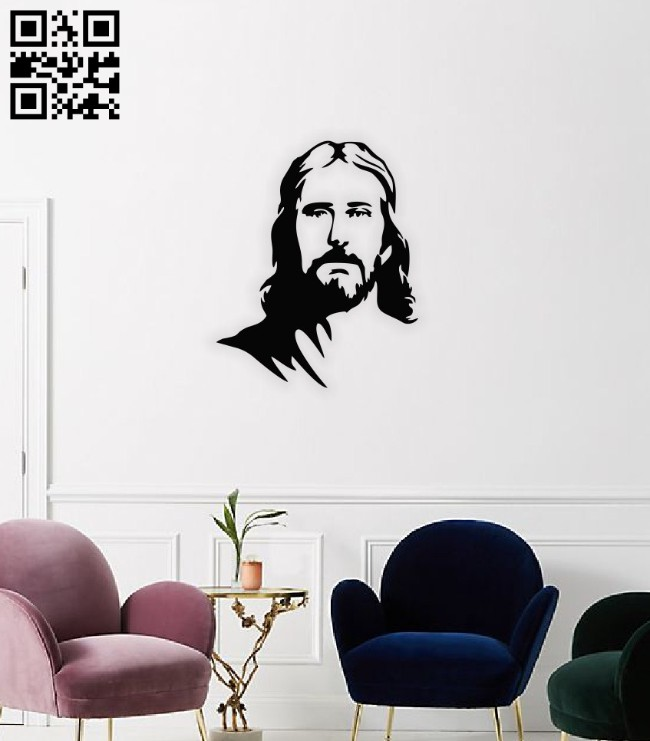 Jesus E0014639 file cdr and dxf free vector download for laser cut plasma