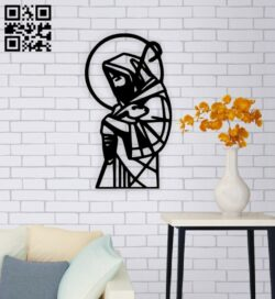 Jesus wall decor E0014811 file cdr and dxf free vector download for laser cut plasma