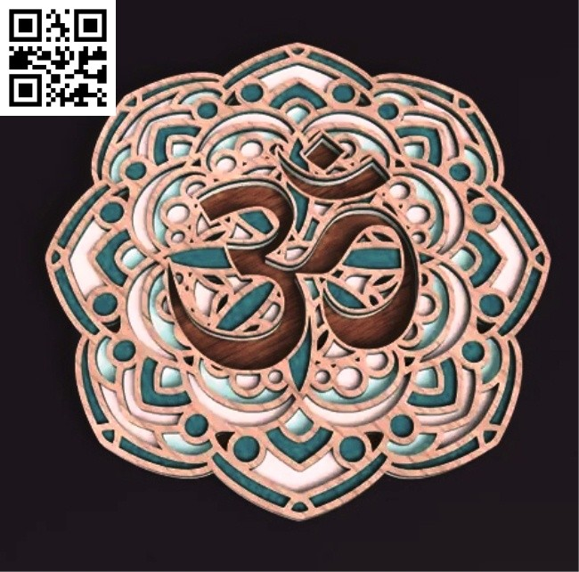 Layered Mandala E0014660 file cdr and dxf free vector download for laser cut