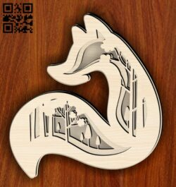 Layered fox E0014854 file cdr and dxf free vector download for laser cut