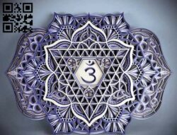 Layered mandala E0014771 file cdr and dxf free vector download for laser cut