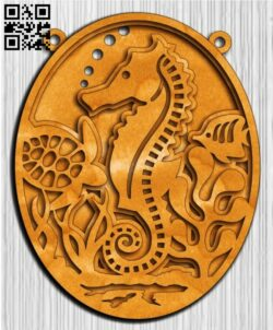 Layered sea horse E0014502 file cdr and dxf free vector download for laser cut