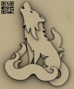Layered wolf E0014800 file cdr and dxf free vector download for laser cut