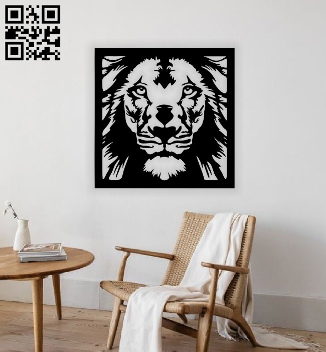 Lion wall decor E0014666 file cdr and dxf free vector download for laser cut plasma
