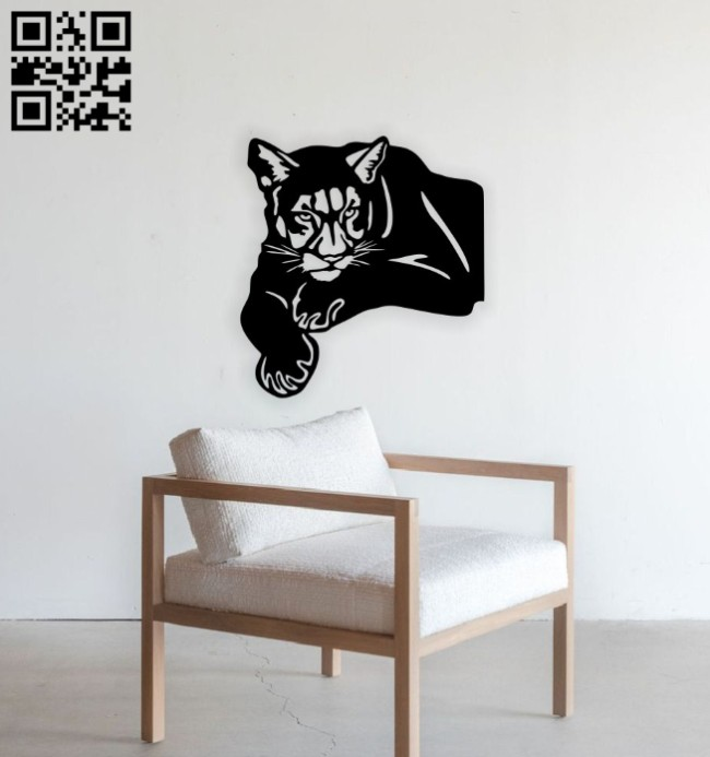 Lioness wall decor E0014714 file cdr and dxf free vector download for laser cut plasma