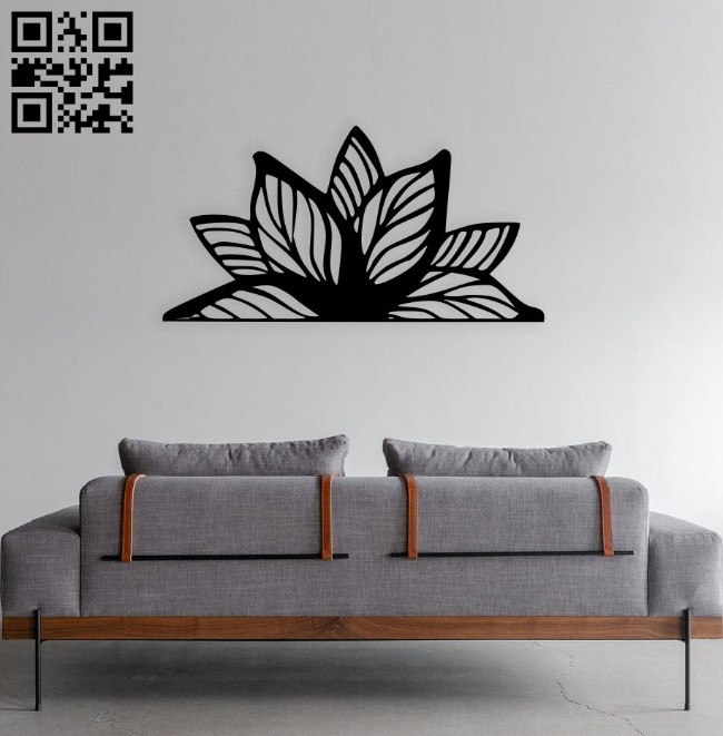 Mandala flower E0014485 file cdr and dxf free vector download for laser cut plasma